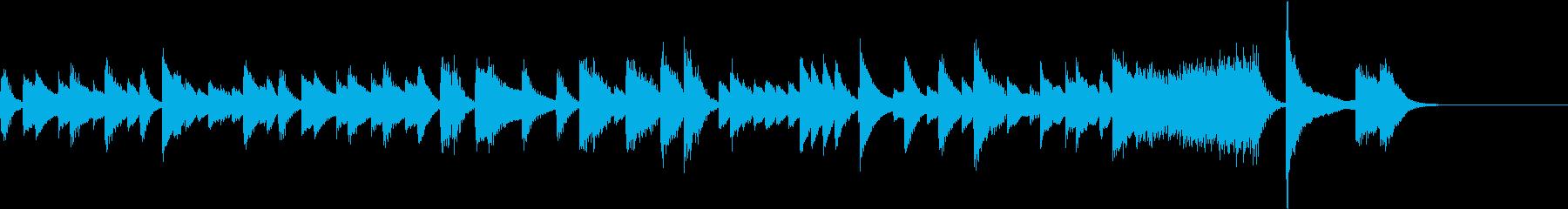 西部劇のようなブギウギ調のピアノジングルの再生済みの波形