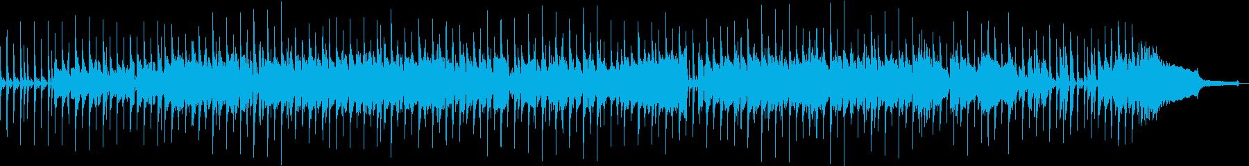 オシャレでノリの良い爽やかな曲の再生済みの波形