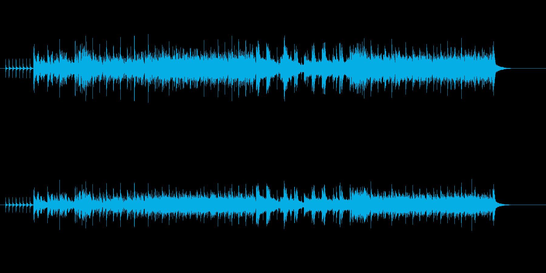 迫力のある8ビート・ロックの再生済みの波形