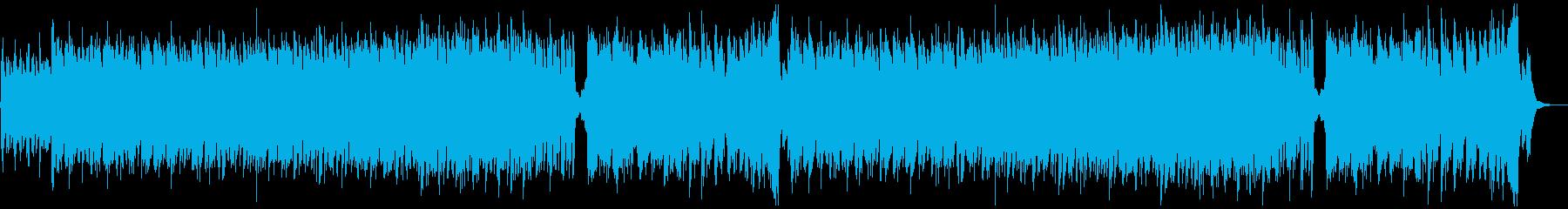 オーケストラ主体のゲームの戦闘曲の再生済みの波形