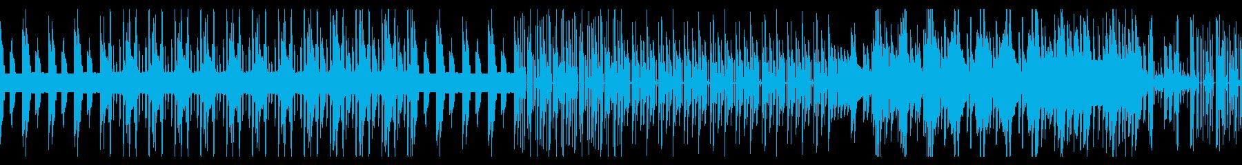 陰鬱な8ビットのループの再生済みの波形