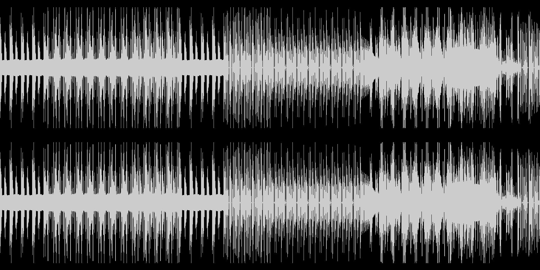 陰鬱な8ビットのループの未再生の波形