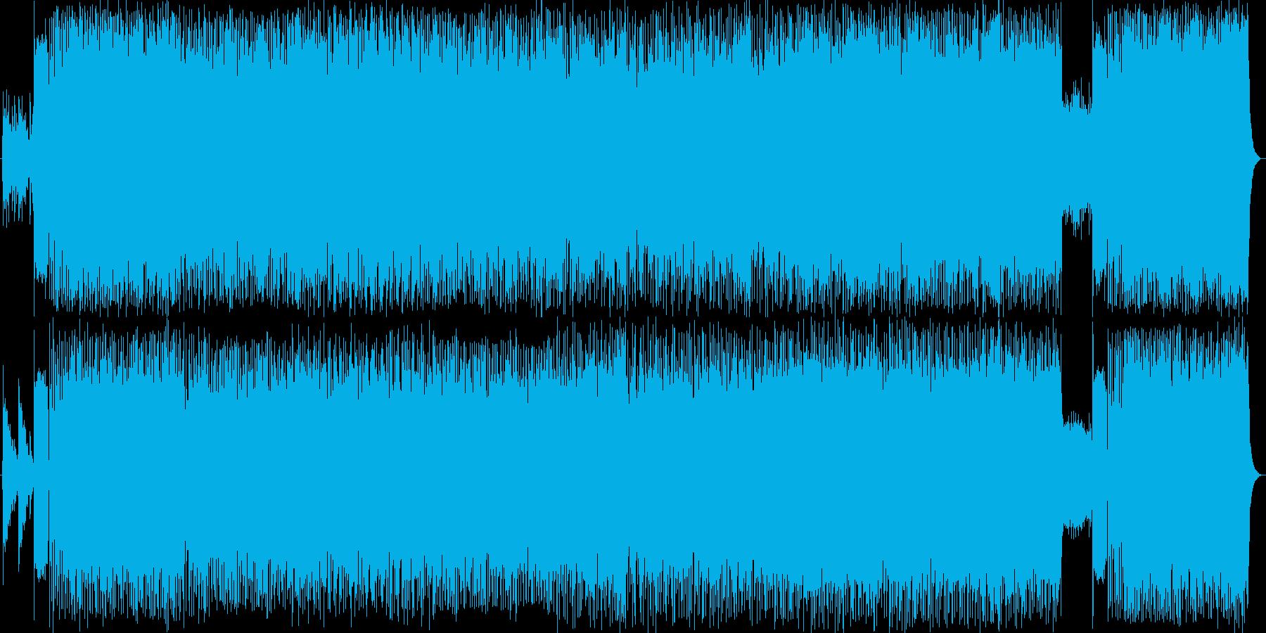 ギターのメロディーが印象的なロックソングの再生済みの波形