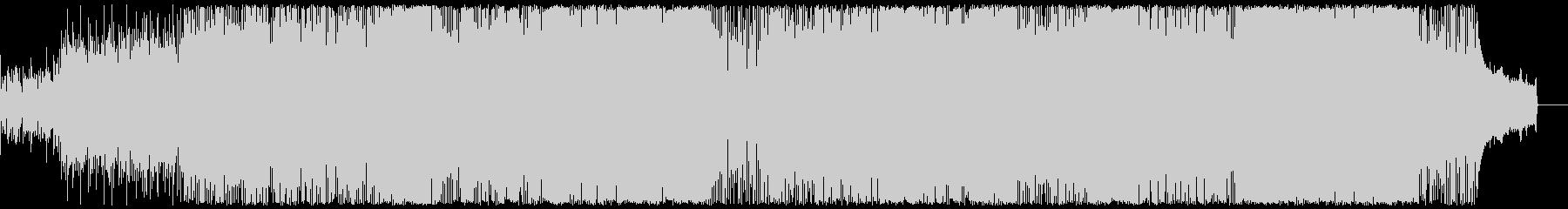 明るく軽快なエレクトロミュージックの未再生の波形