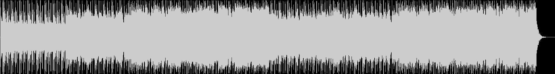 荒っぽいインディーズロックの未再生の波形