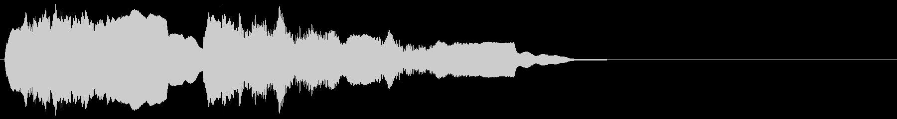 リコーダー バッハ トッカータとフーガの未再生の波形
