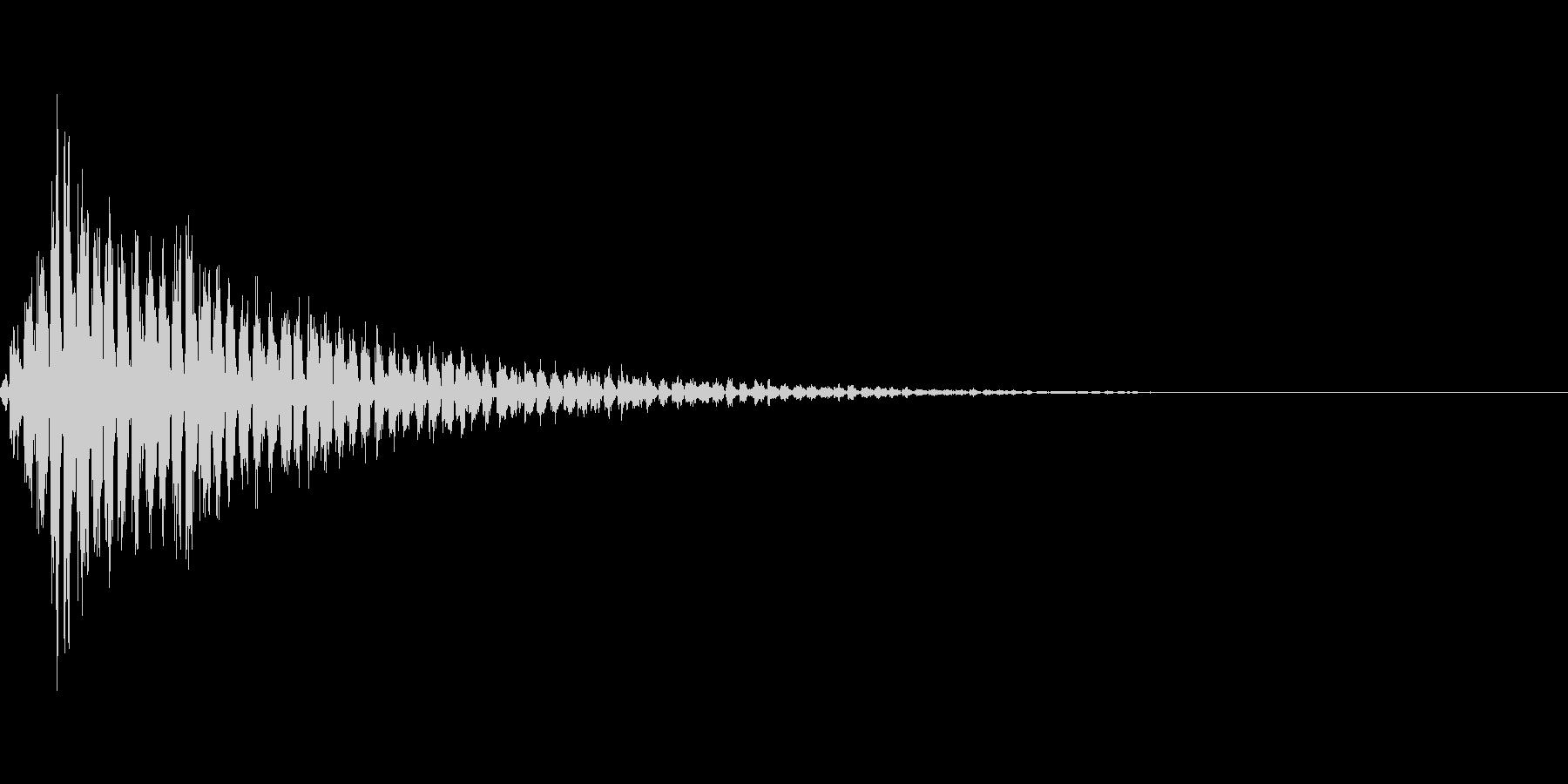ビビビビビビビの未再生の波形