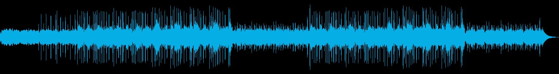 深夜・静か・ローファイヒップホップの再生済みの波形