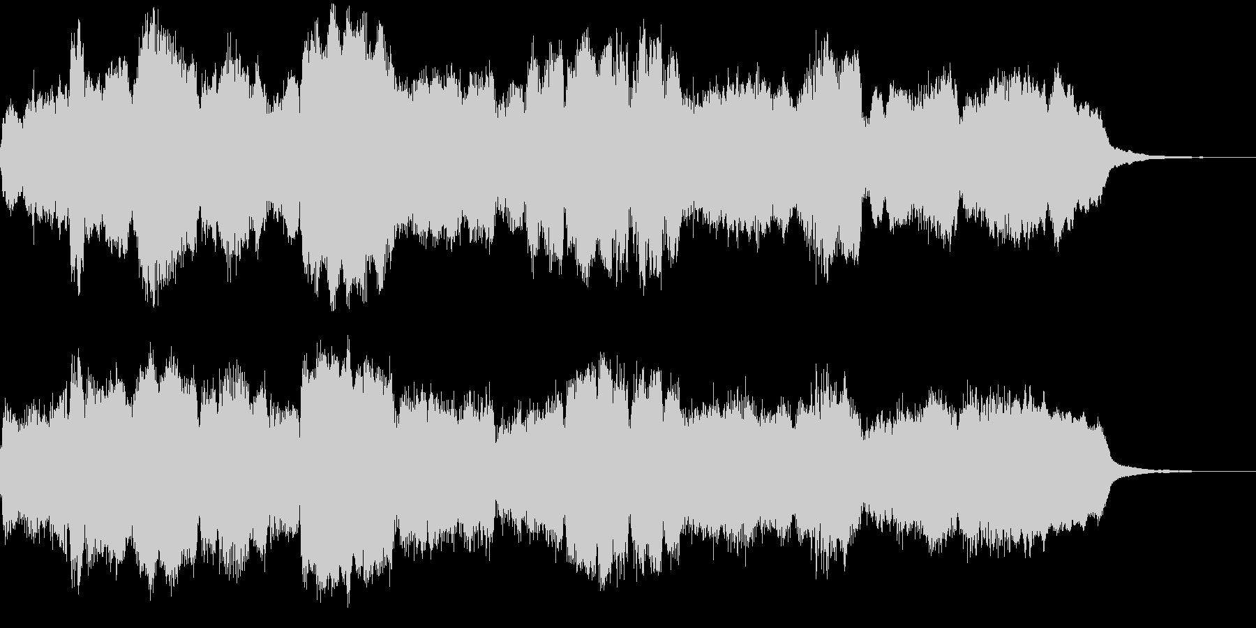 管弦楽による上品なジングルの未再生の波形
