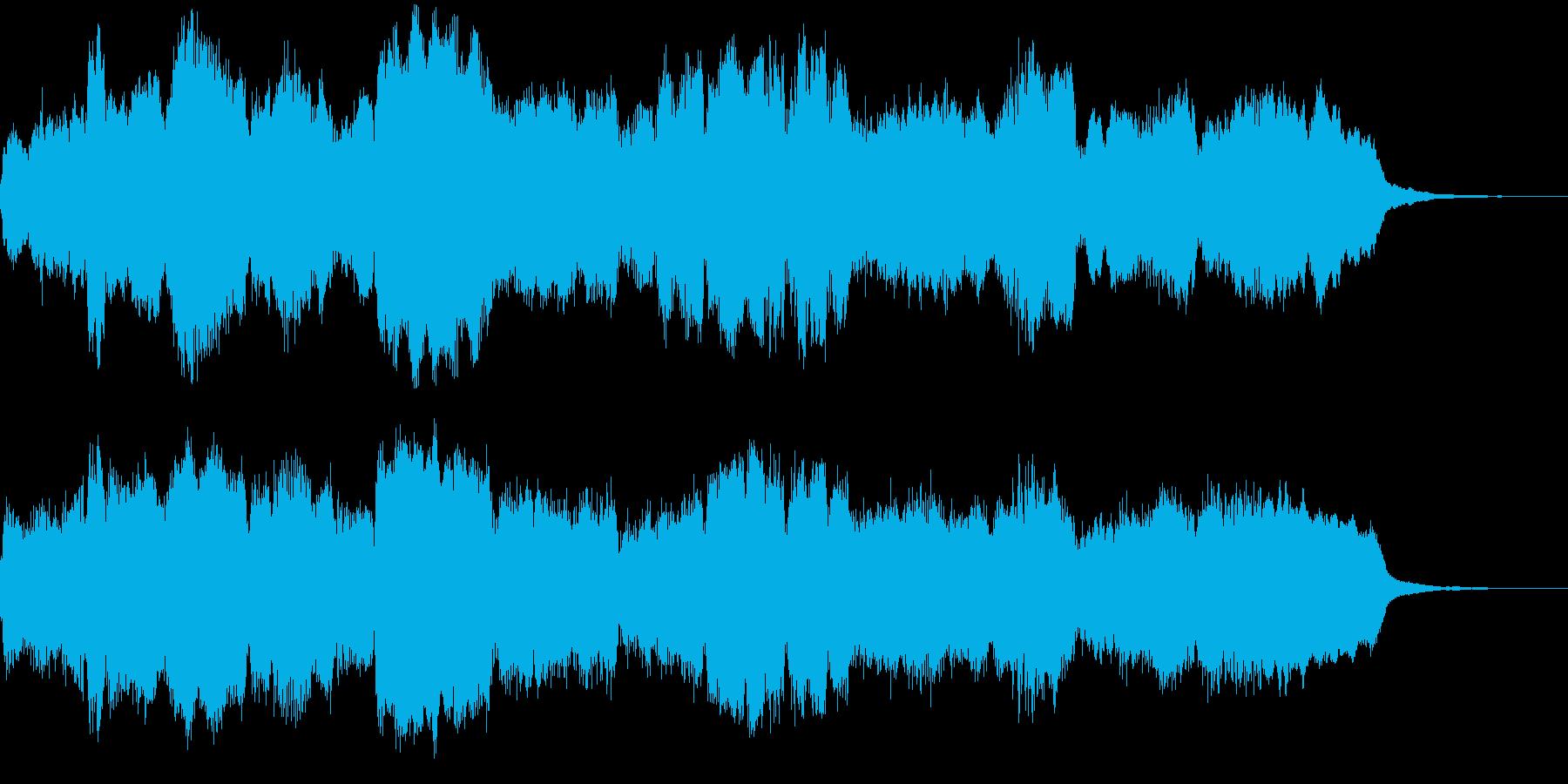 管弦楽による上品なジングルの再生済みの波形