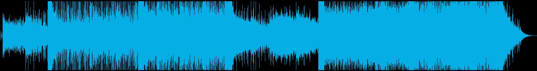 アジアン調、緊迫感のあるBGMの再生済みの波形
