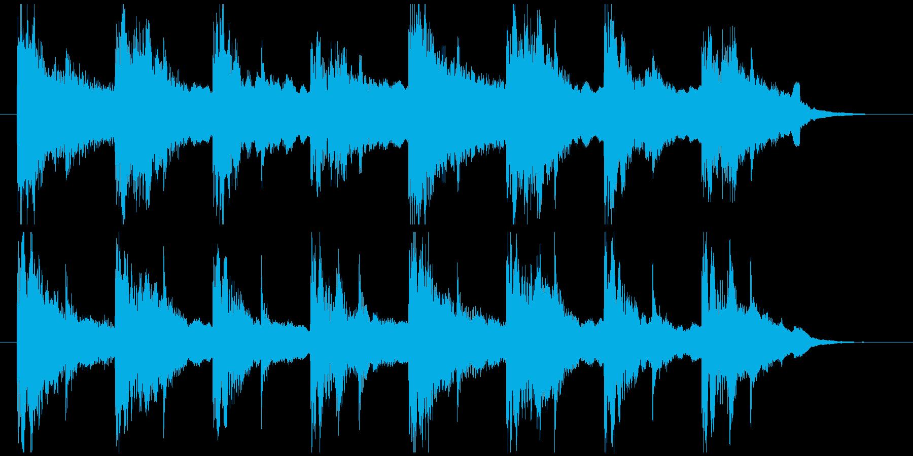 和っぽい登場ジングルの再生済みの波形