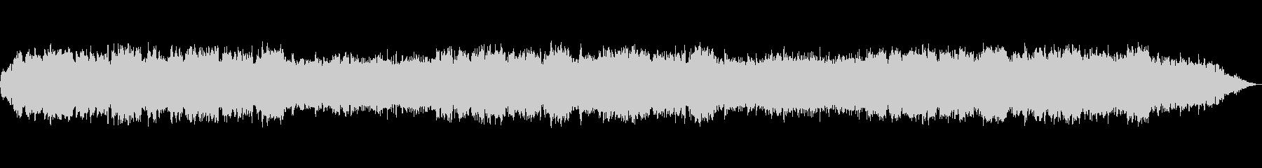 優しい笛のヒーリングミュージックの未再生の波形