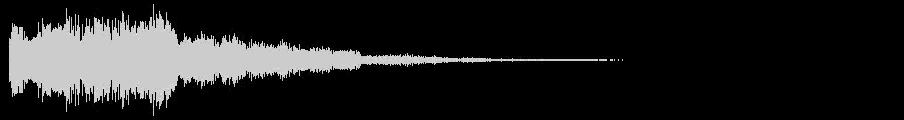 パワーアップ 回復 解毒 アイテム使用音の未再生の波形