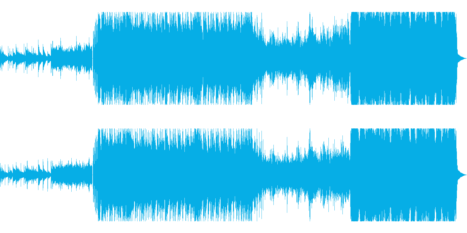 ギターリフが重厚で激しいMETALの再生済みの波形