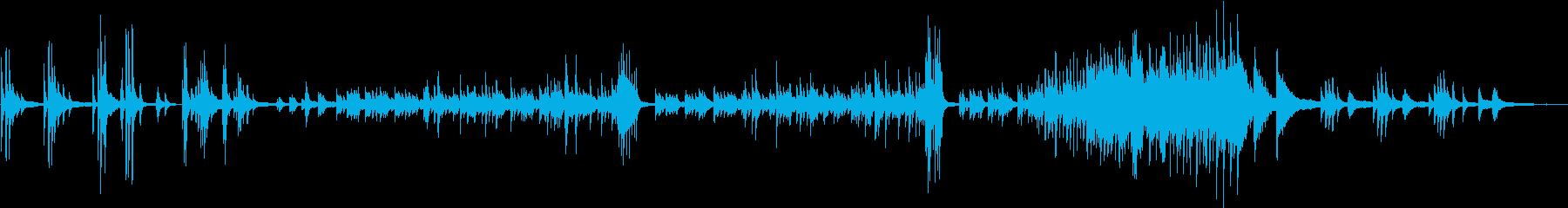 リラクゼーション向けピアノソロ曲の再生済みの波形