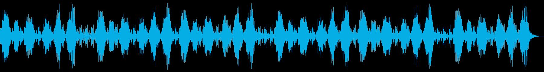 ホラーの演出 奇妙な背景 ハープの再生済みの波形