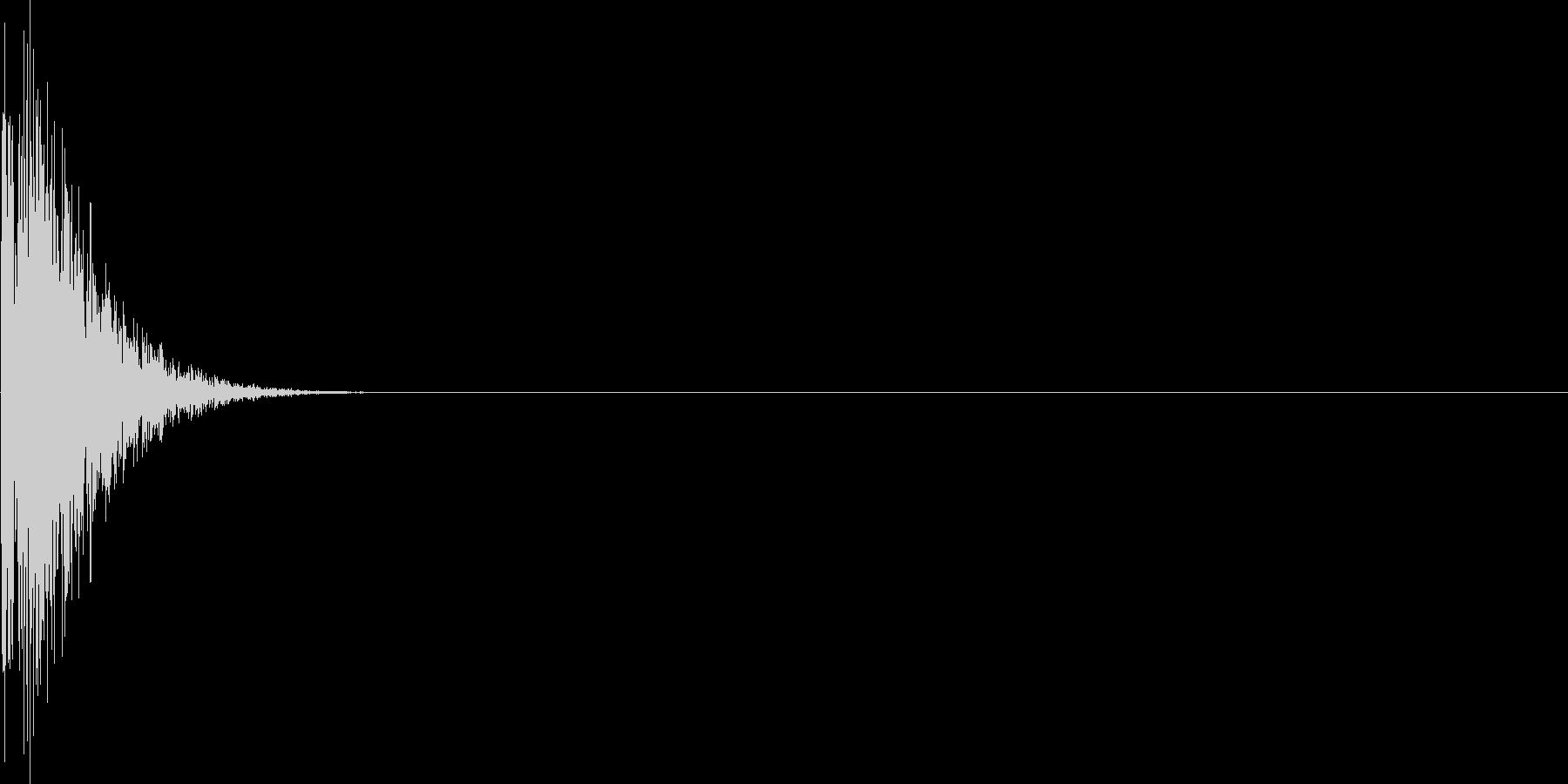 ゲーム・バラエティ的なパンチ音_01の未再生の波形