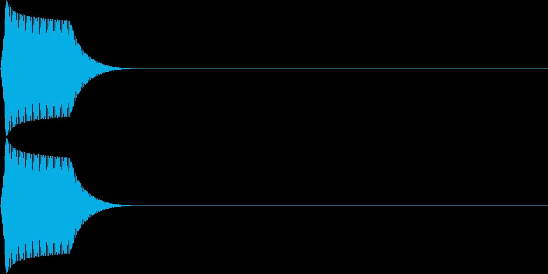 プッ(小決定音とかに使える電子音)の再生済みの波形