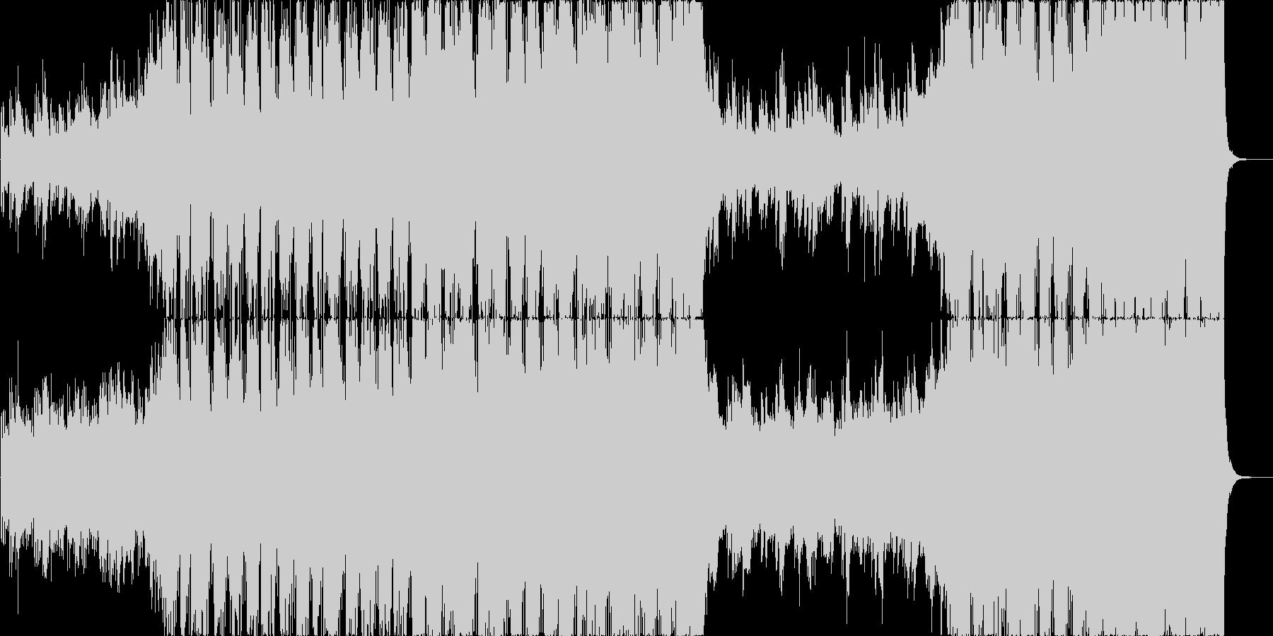シンフォニックとエレクトロのダブステップの未再生の波形