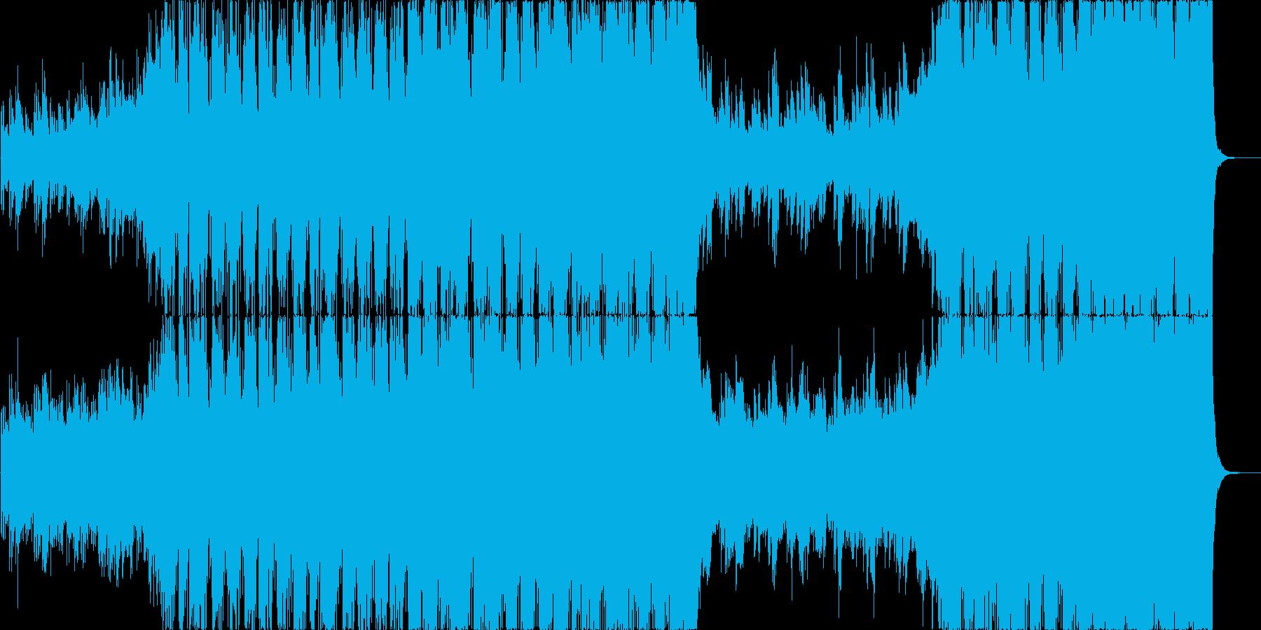 シンフォニックとエレクトロのダブステップの再生済みの波形