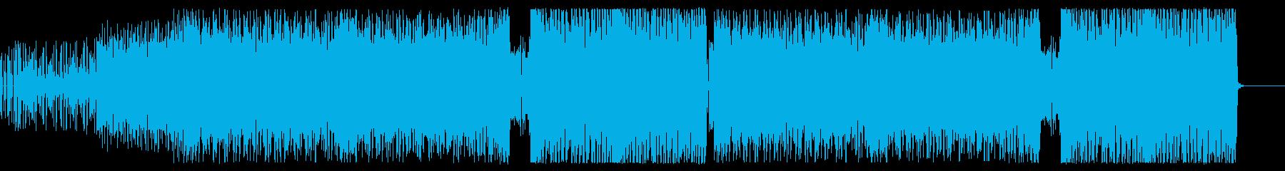ファンキーで鋭いギターロックの再生済みの波形