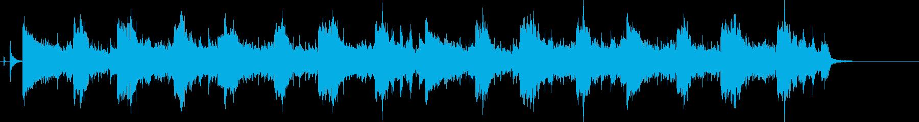 ムードのあるバーやカフェのギターの再生済みの波形