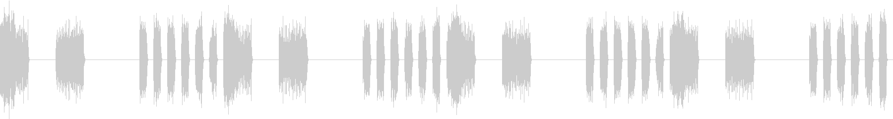 SFX デジタルボイスの不気味なループの未再生の波形
