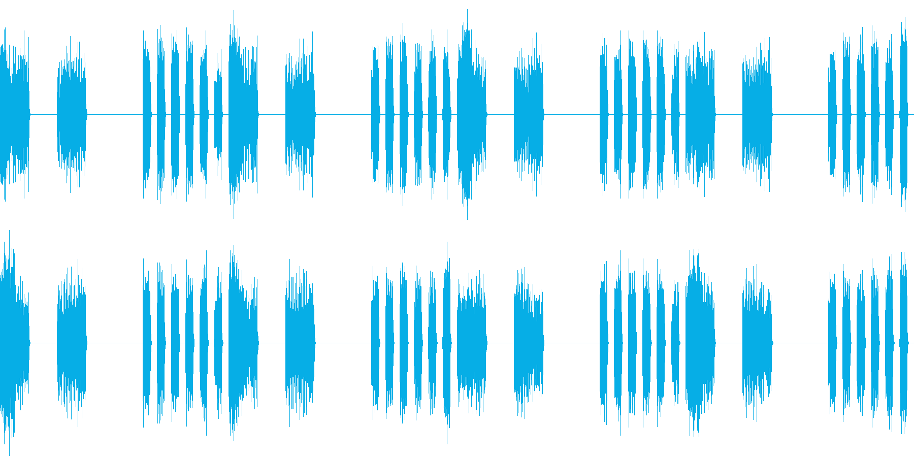 SFX デジタルボイスの不気味なループの再生済みの波形