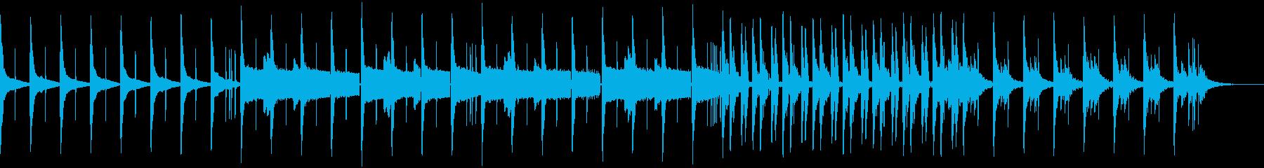 ちょっと切なくまったりした曲の再生済みの波形