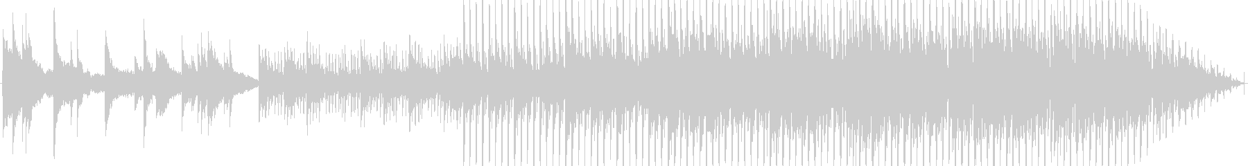 都会的な、おしゃれピアノハウスの未再生の波形
