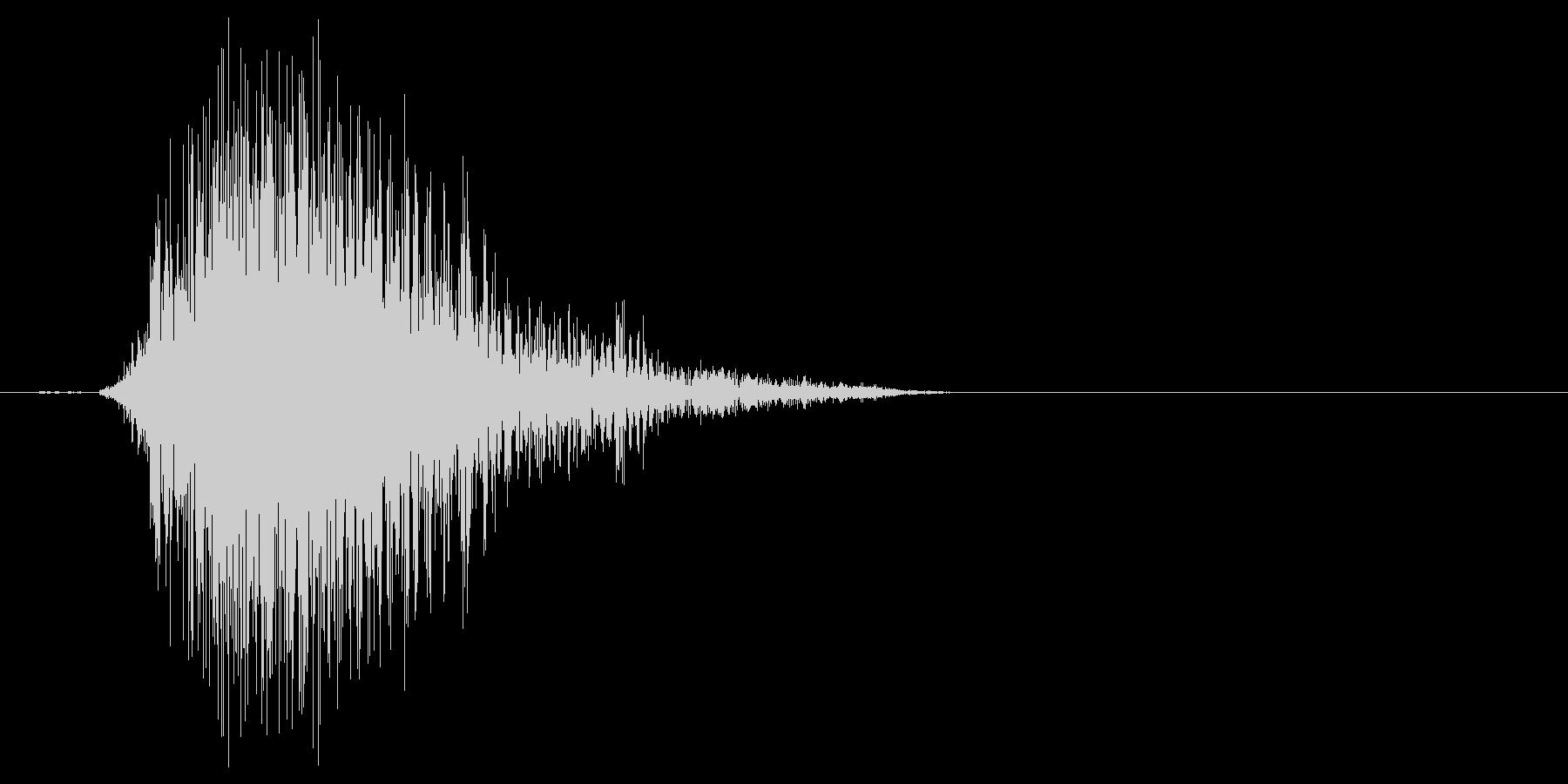 こん棒やメイスなどで攻撃する 02の未再生の波形