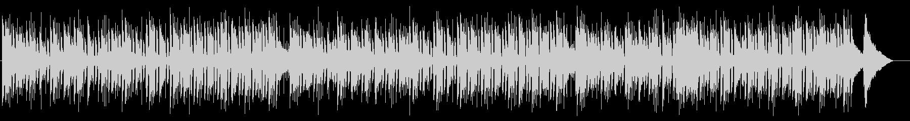 シンプルなエレキギターとピアノのボサノバの未再生の波形
