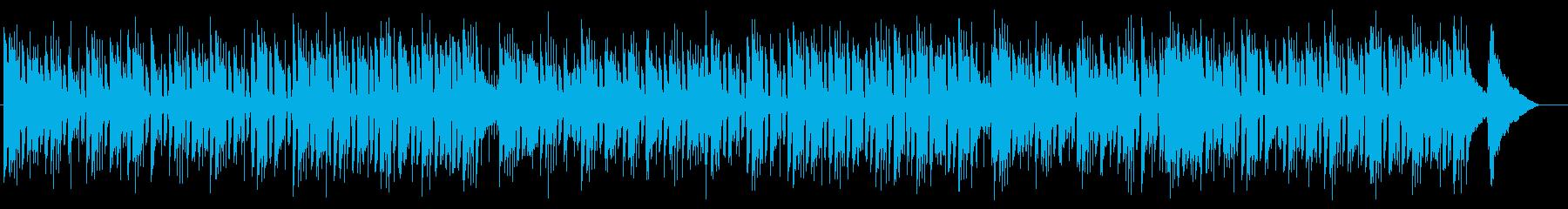シンプルなエレキギターとピアノのボサノバの再生済みの波形