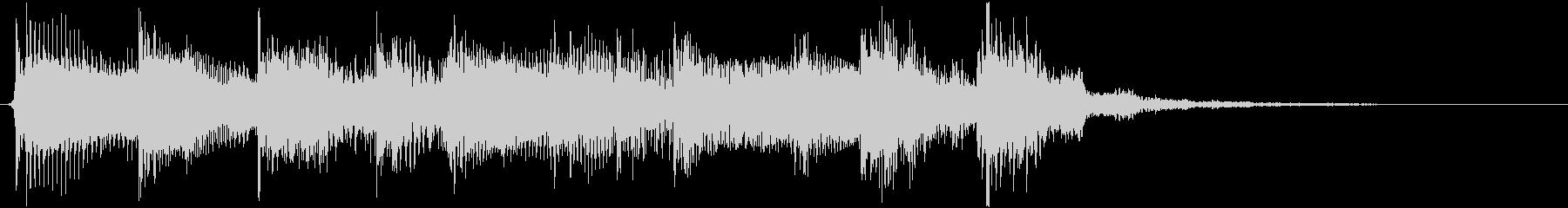 ドラムのリズムが軽快なロックの未再生の波形