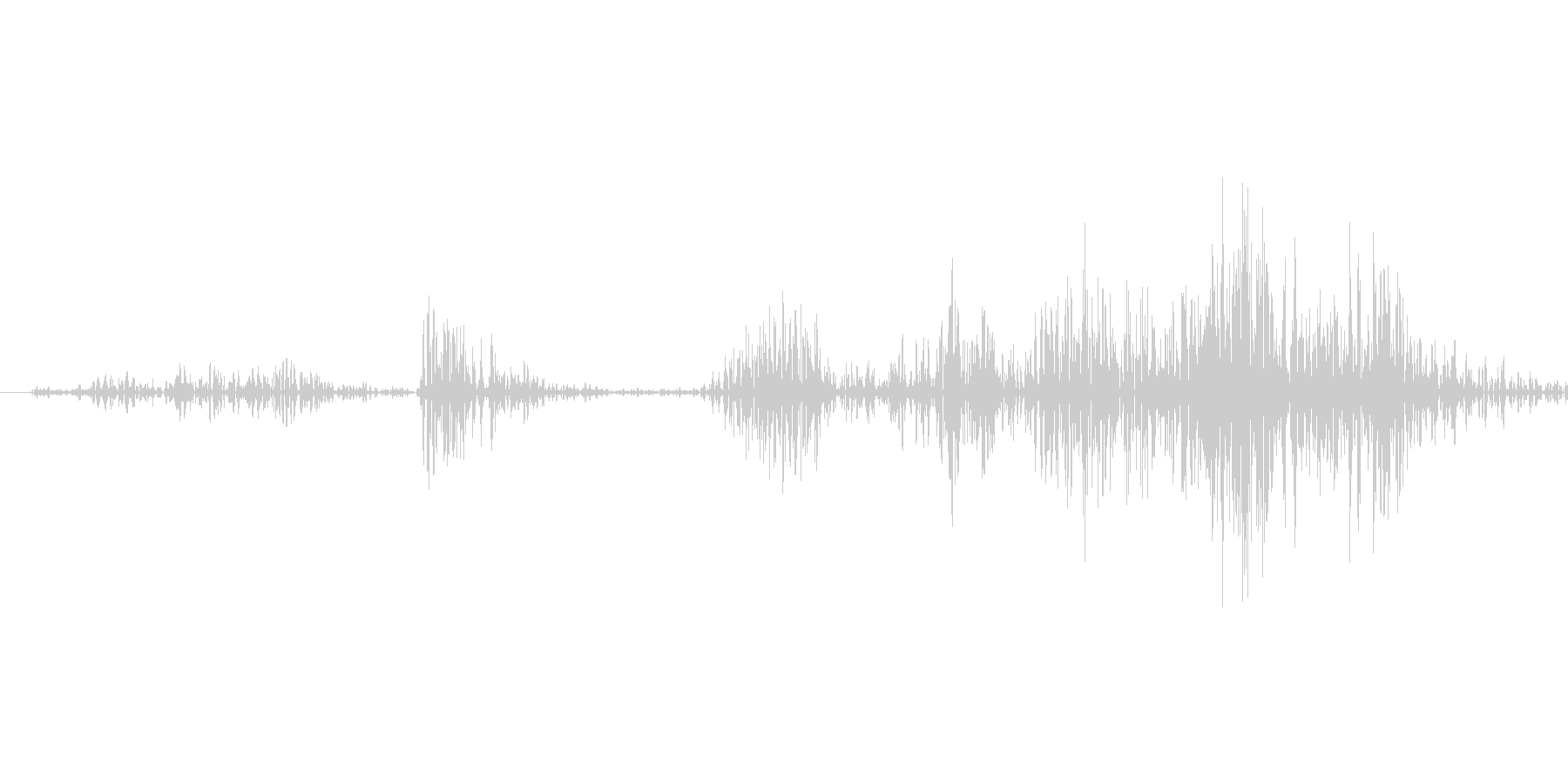 銃を構える音の未再生の波形