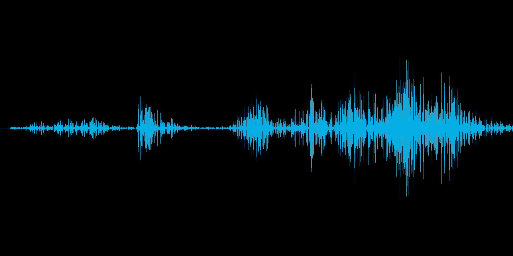 銃を構える音の再生済みの波形