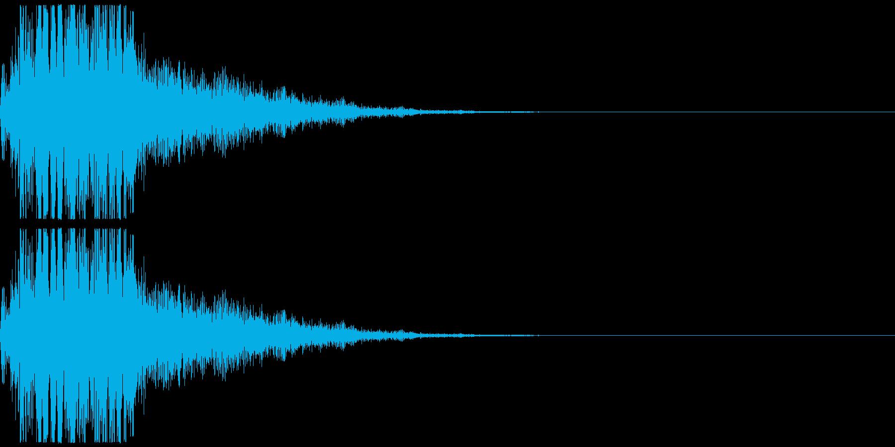 電子音です。擬音、非現実的な音といった…の再生済みの波形