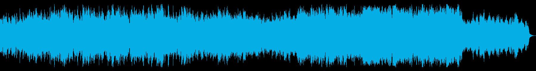 壮大で感動的なサウンドの再生済みの波形
