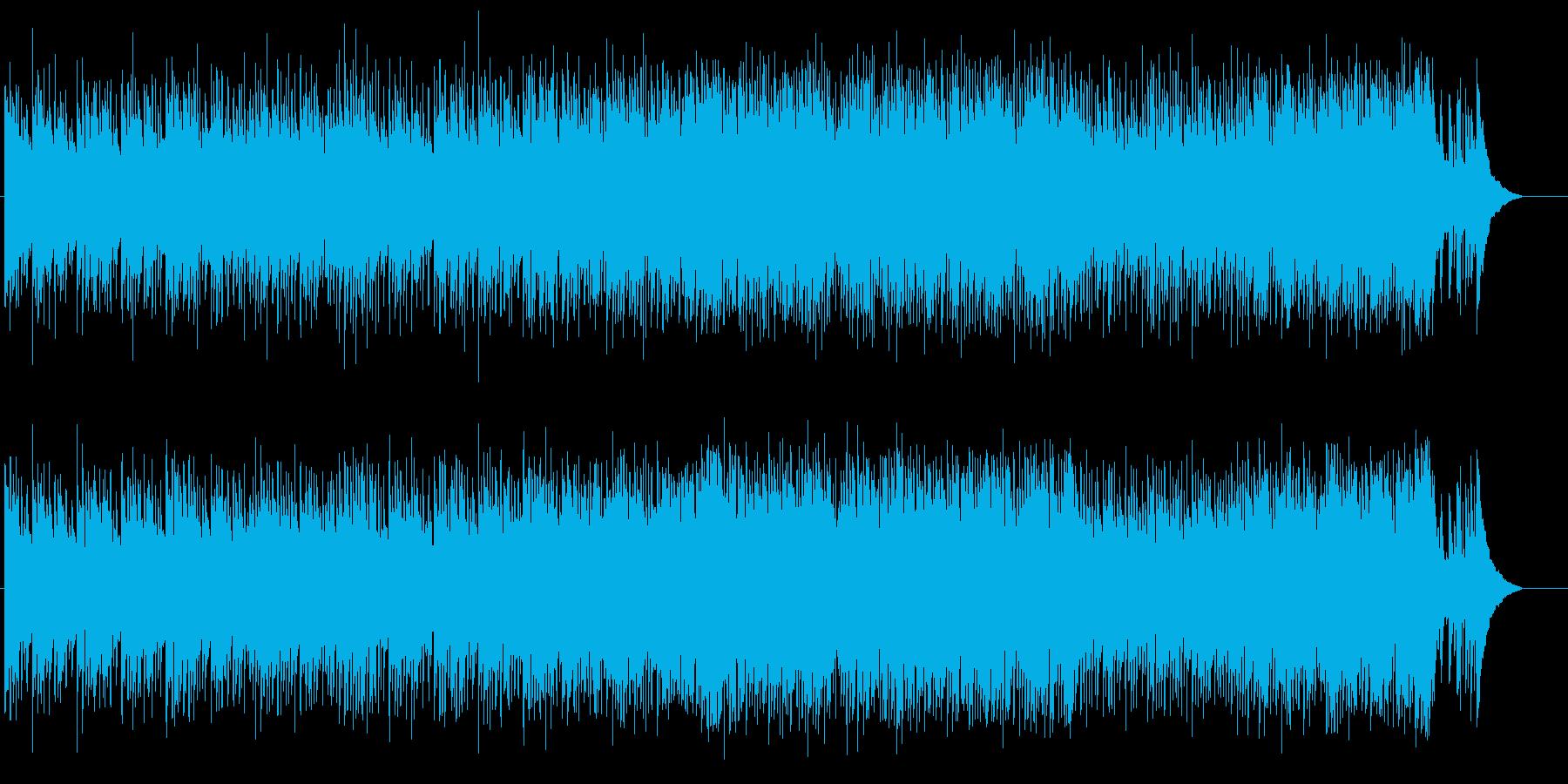 軽快でお洒落なイージーリスニングポップスの再生済みの波形