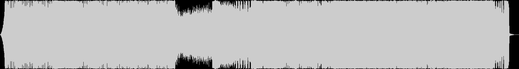 ハイテンポで激しいデスボイス・メタルの未再生の波形