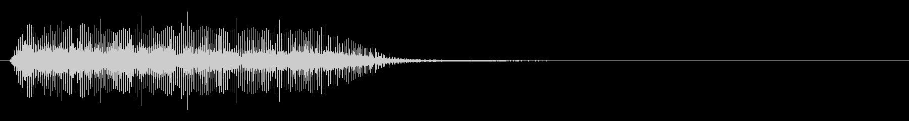 クリーチャー 発声 17の未再生の波形