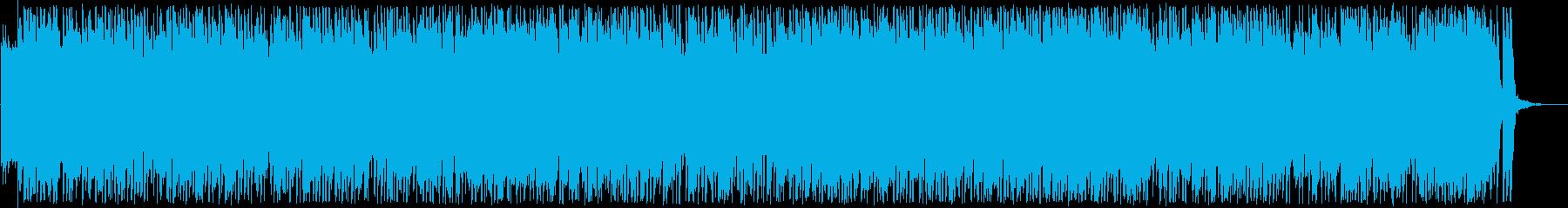ゆったりしたシンセサイザーラテン風曲の再生済みの波形