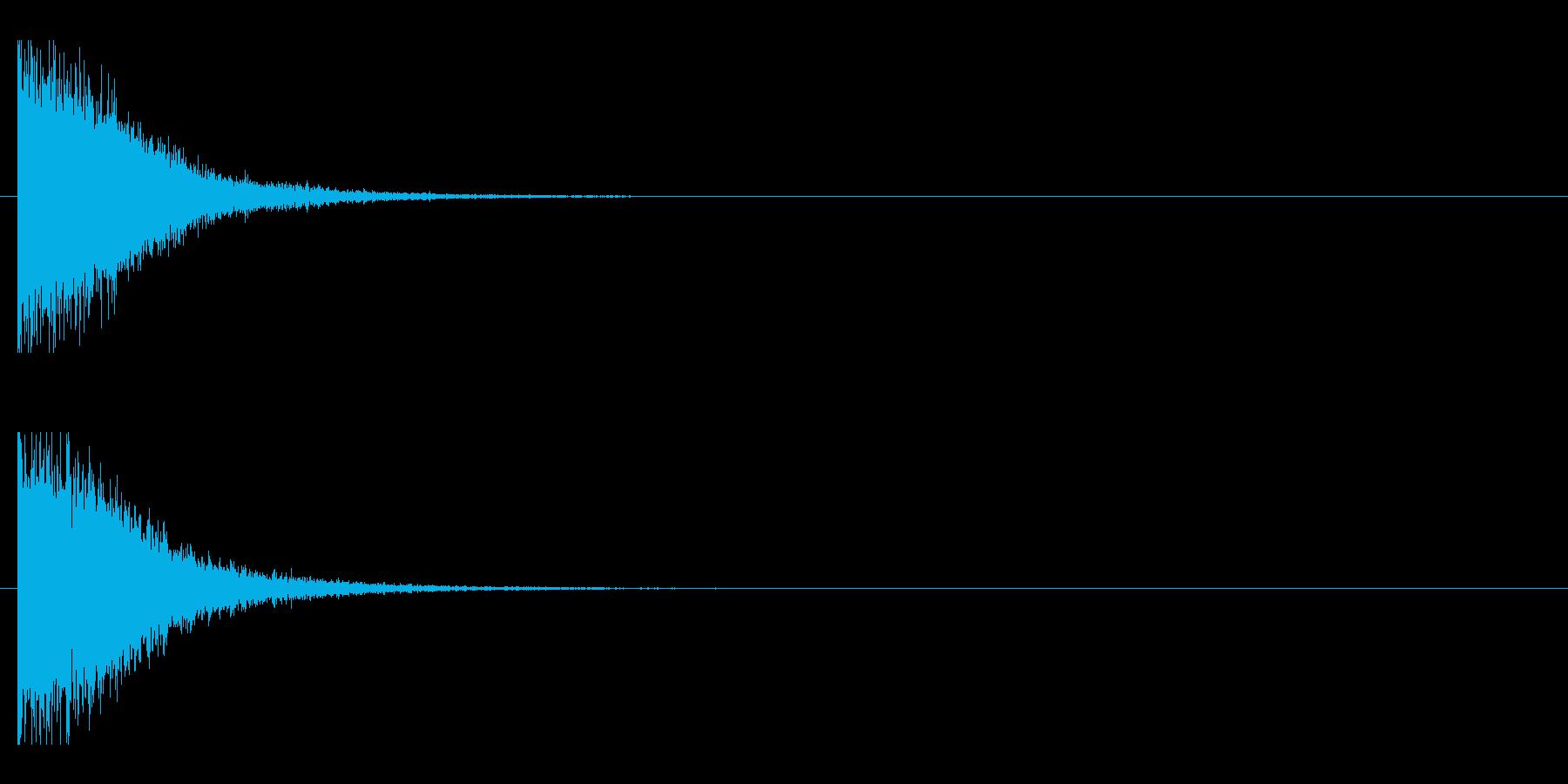 レーザー音-146-1の再生済みの波形
