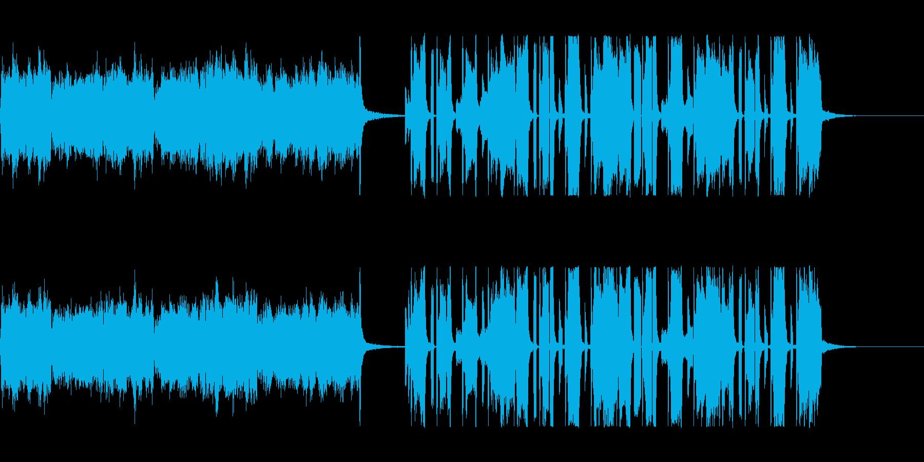 コミカルで渋い四つ打ちの再生済みの波形