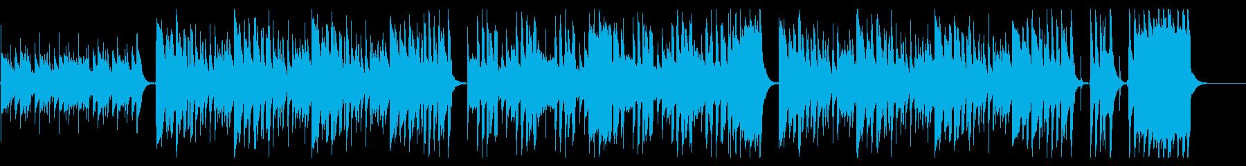 ほのぼの軽快なウクレレ・トイピアノ鍵ハモの再生済みの波形