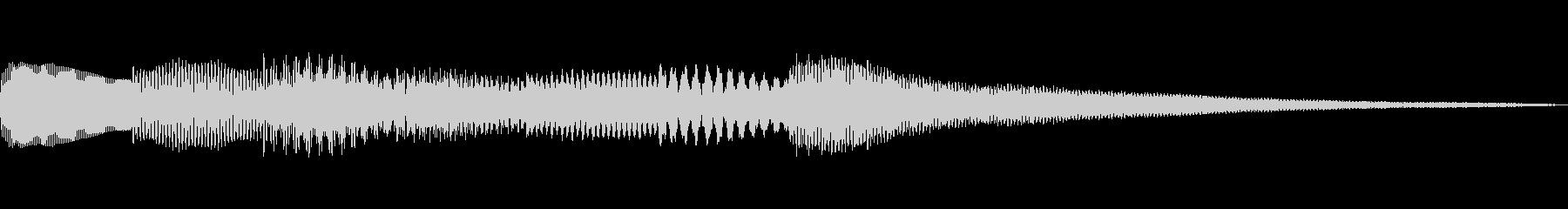 グレゴリア聖歌ぽい通知音 エスニックの未再生の波形