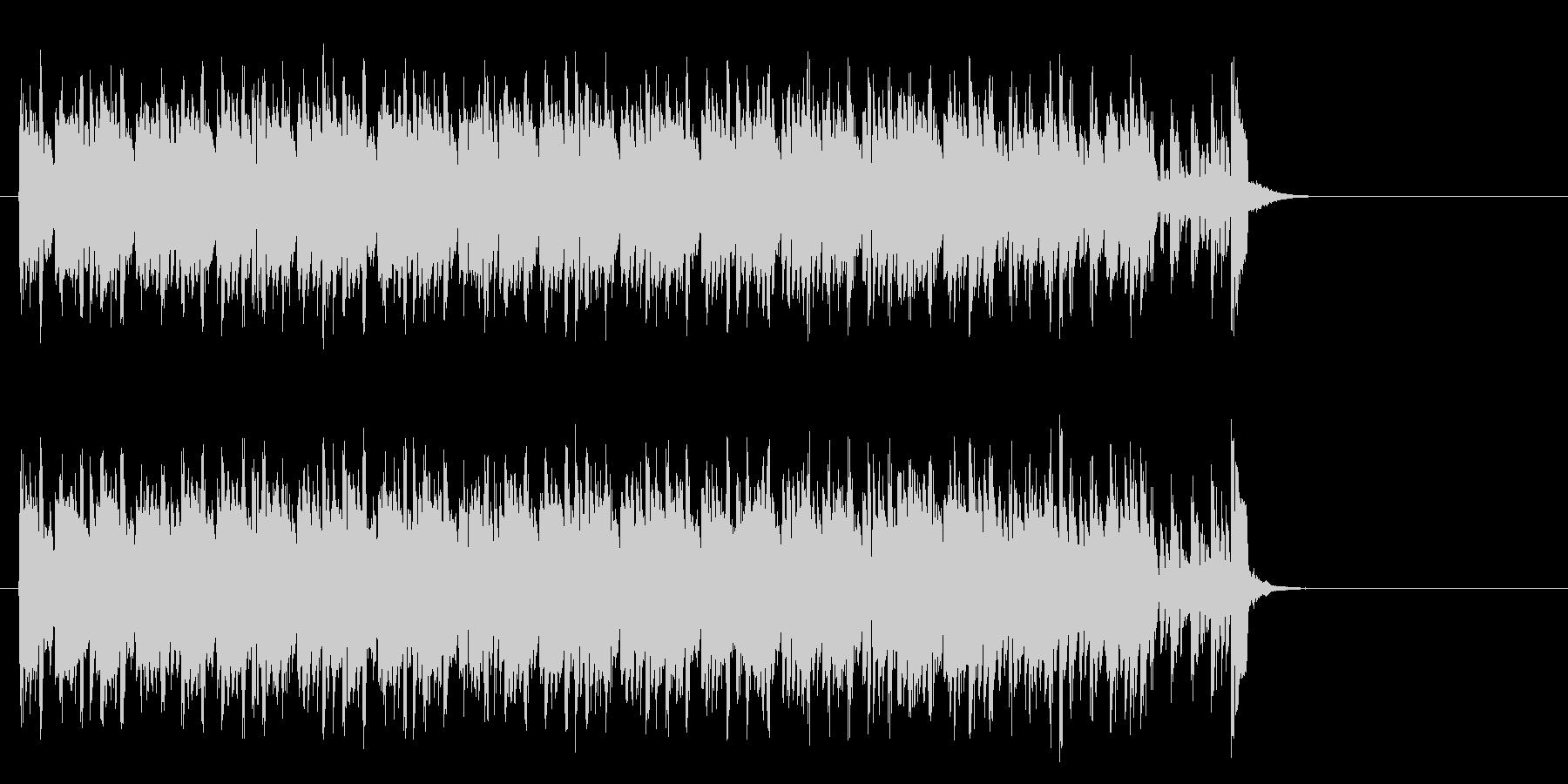 キャッチーなテクノポップ(サビ~エンド)の未再生の波形