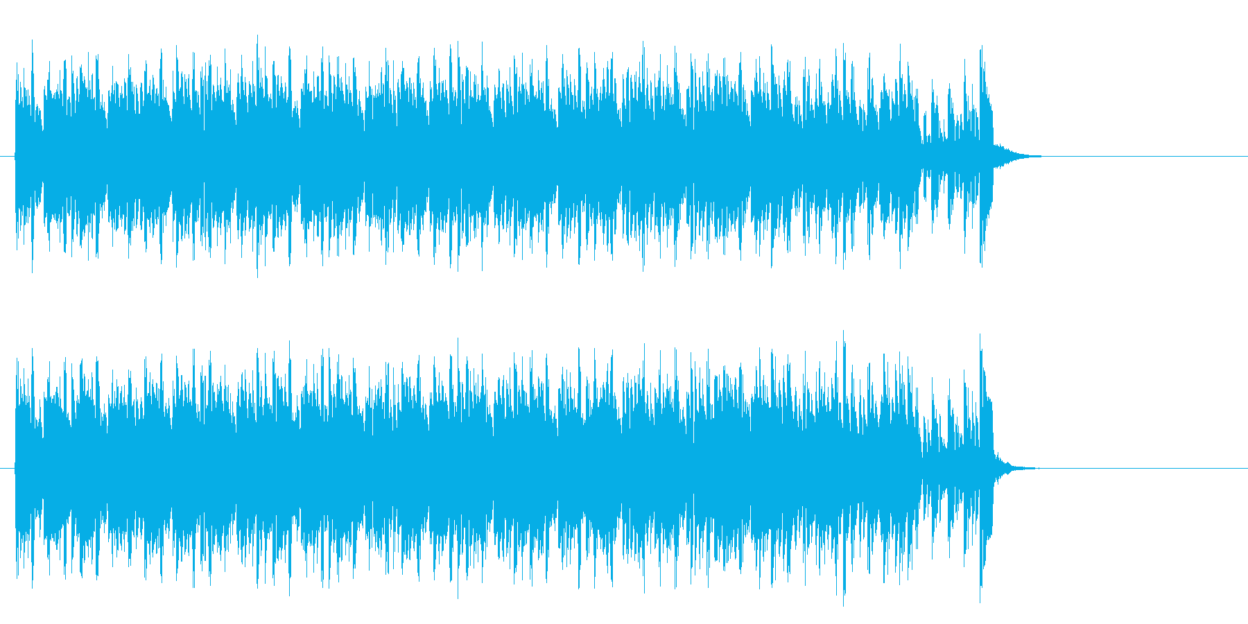 キャッチーなテクノポップ(サビ~エンド)の再生済みの波形