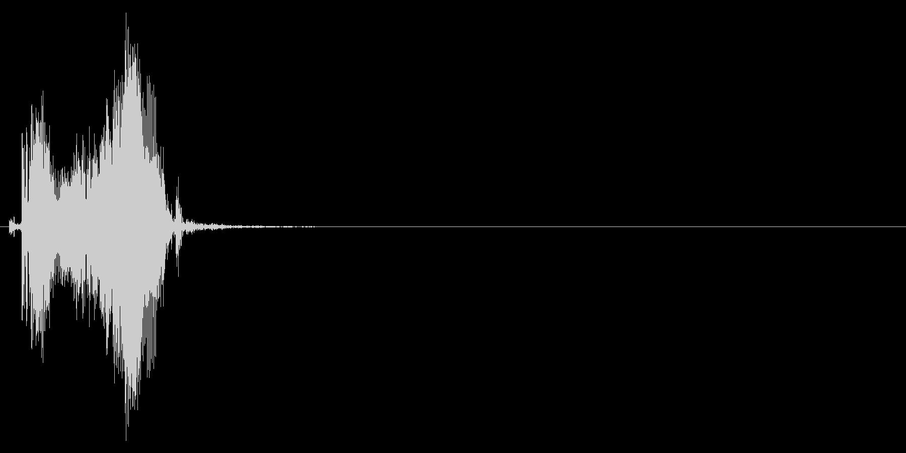 ジッパー、ファスナーを開ける音2-3の未再生の波形